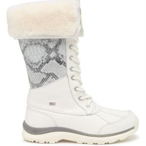 UGG White Adirondack III Tall Snake Print Boots 8